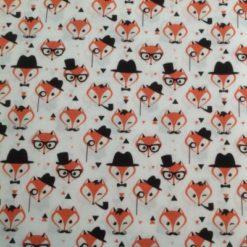 fat quarter Mr Fox ivory coloured 100/% Cotton Fabric sold per half metre