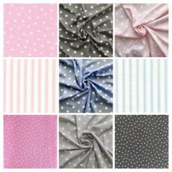 Polka Dots, Stars & Stripes 100% Cotton